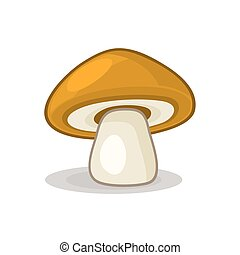 Mushroom isolated on white background. Vector
