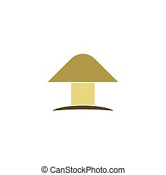 mushroom logo icon vector symbol element