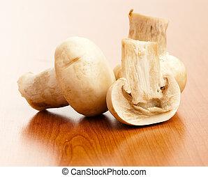 mushroom on table
