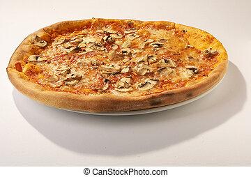 Mushroom Pizza - Champignon Pizza - Pizza with Mushrooms on...