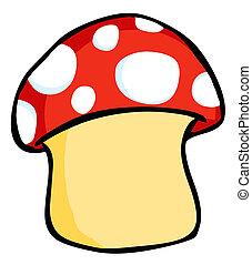 Mushroom  - Red, White And Beige Mushroom