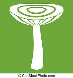 Mushroom russet icon green