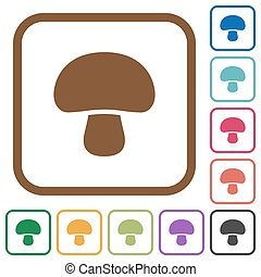 Mushroom simple icons