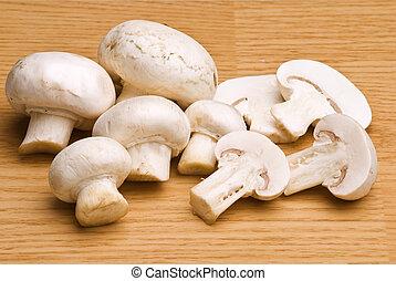 mushroom for eating, food preparing