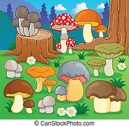 Mushroom theme image 4 - vector illustration.