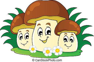 Mushroom theme image 7 - vector illustration.