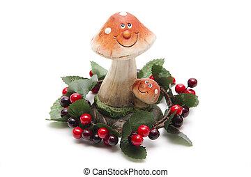 Mushroom with face