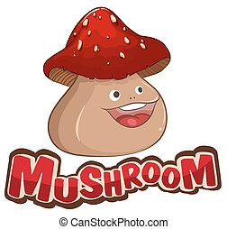 Mushroom with happy face