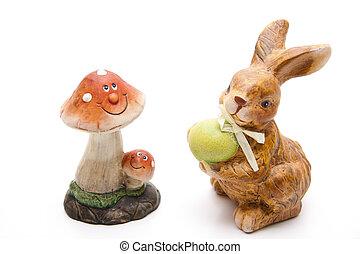 Mushroom with rabbit