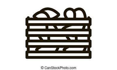 mushroom wooden box Icon Animation