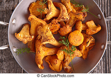 mushroom,chanterelle