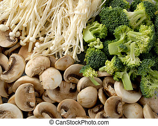 Mushrooms & Broccoli