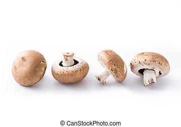 Mushrooms isolated on white background