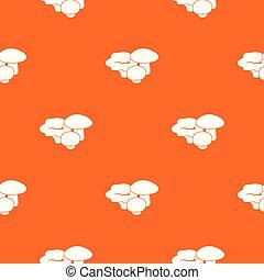 Mushrooms pattern vector orange