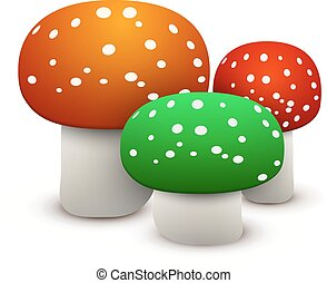 mushrooms vector - vector illustration isolated with shadow...