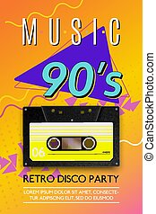 Music 90s Vintage Poster
