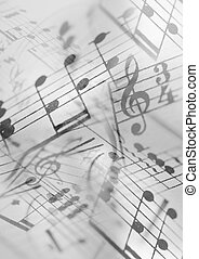 A Photocomposition of musical notation, suitable for background