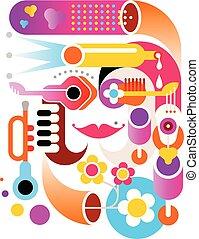 Music abstract vector artwork