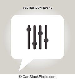 music adjustment vector icon