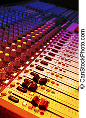 Mixer of a digital technology and controlpanel for djs. Radio mixer