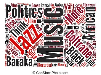 Music and Politics Word Cloud Concept Text Background