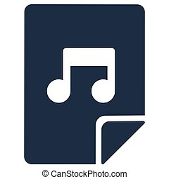 Music app flat vector icon