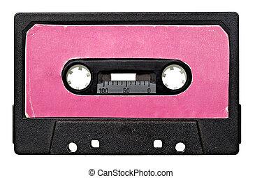 music audio tape vintage - close up of vintage audio tape on...