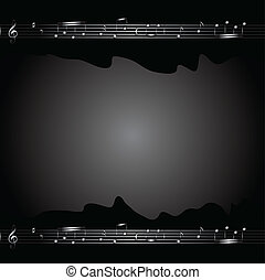 Music background with  music notes