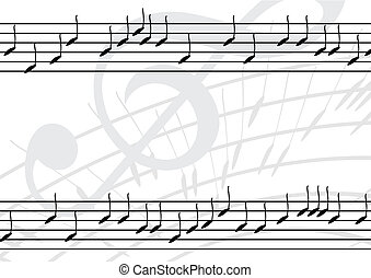 Editable vector music background