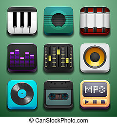 Music background for the app icons