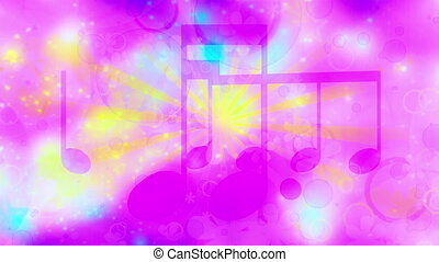 Music background in fun colors looping animated background -...