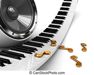 music background - abstract 3d illustration music background...