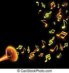 Music background. - Luminous music background. Vector...