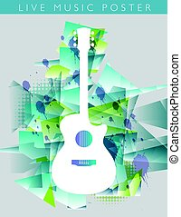 Music background with a generic acoustic guitar