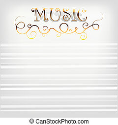 Music background with notes line.