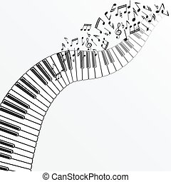 music background with piano. vector illustration - eps 10