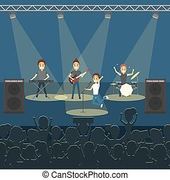Music band concert.