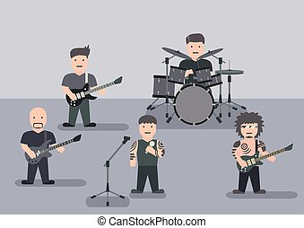 Music band flat graphic