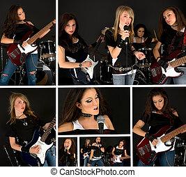 Music Band - Girl\'s band collage