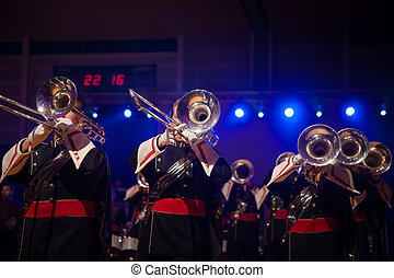 Music Band playing live music during performance