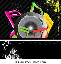 music banner grunge style
