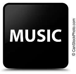 Music black square button