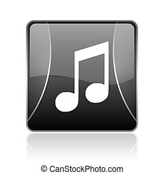 music black square web glossy icon