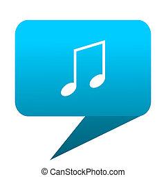 music blue bubble icon