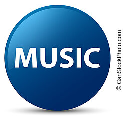 Music blue round button