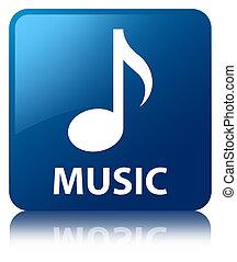 Music blue square button