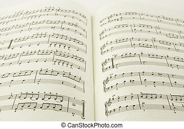 music book - printed music