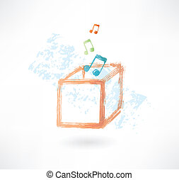 music box grunge icon