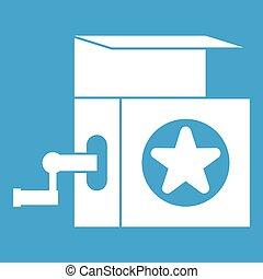 Music box icon white