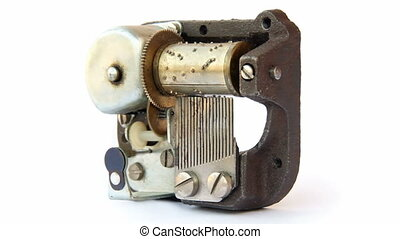 Music box mechanism with the melody. Seamless loop